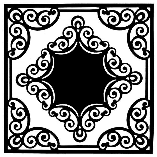 Stanzschablonen, Rahmen mit Kartenaufleger 2, 2 Stück