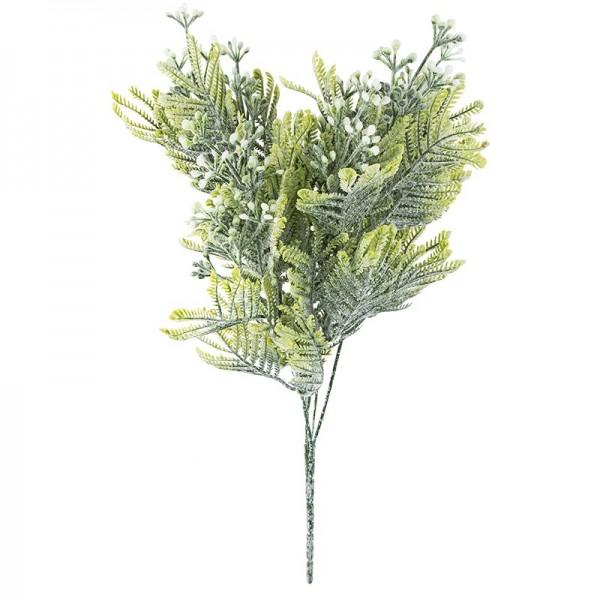 Deko-Busch, Blütenknospen 2, 36cm lang, 5 Stängel, weiße Knospen