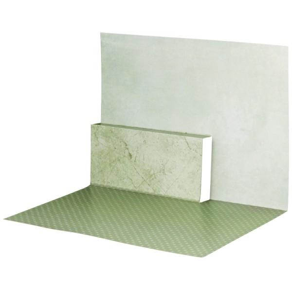 Pop-Up-Grußkarten-Einleger, gefaltet 11 x 15,5 cm, Punkte, grün