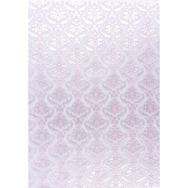 Transparentpapiere, Nova Noblesse 2, mit Top-Prägung & Perlmuttlack, DIN A4, 5 Bogen, rosé