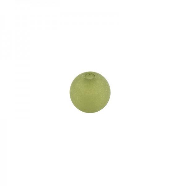 Perlen, gefrostet, Ø 4mm, 200 Stück, dunkelgrün