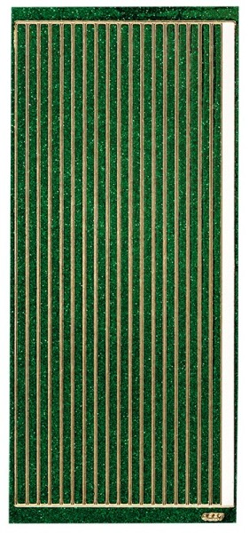 Microglitter-Sticker, Linien, 5mm, grün