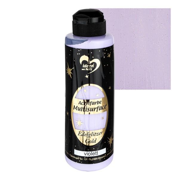 """Acrylfarbe """"Multisurface"""", Edelglitzer Gold, violett, 180ml"""