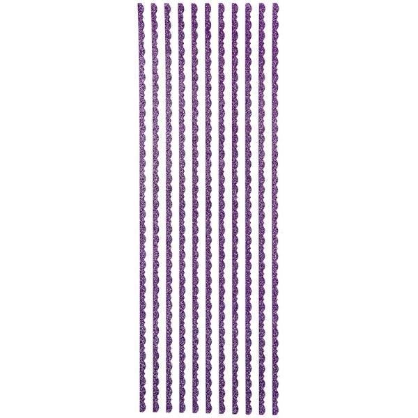 "Glitzer-Bordüren ""Lilia"", selbstklebend, 10cm x 30cm, violett"