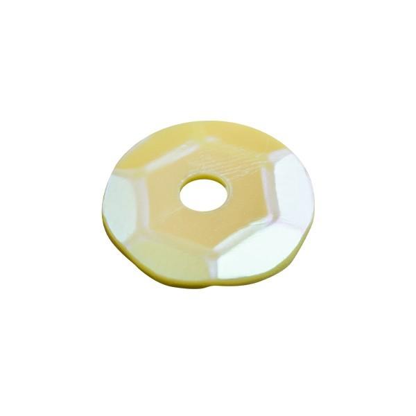 Pailletten, irisierend, 15 g, Ø6 mm, gelb