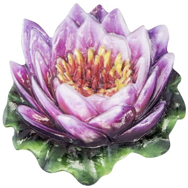 Wachsornament Seerose 3, farbig, geprägt, 7cm