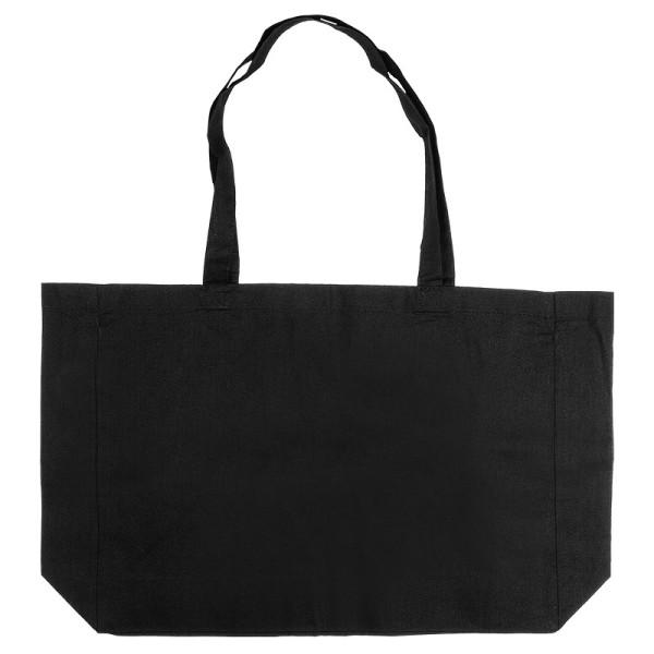 Baumwoll-Shopper, 48cm x 36cm, langer Henkel, schwarz