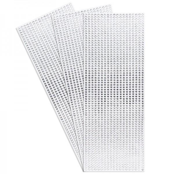 Schmuckstein-Bordüren, Twinkle, selbstklebend, Ø 4mm, klar, 3 Bogen