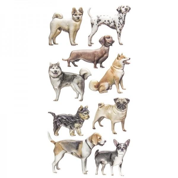 Relief-Sticker, Hunde, 17,5cm x 9cm