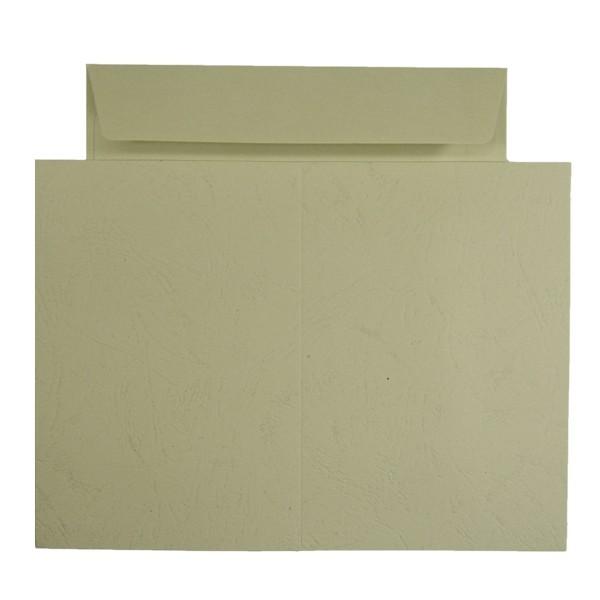 10er Grußkarten-Set, Lederprägung, C6, inkl. Umschläge, beige