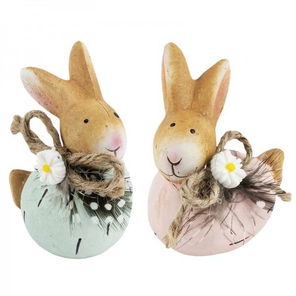 Deko-Figuren Hasen, mint&rosa , 7cm hoch, 2 Stück