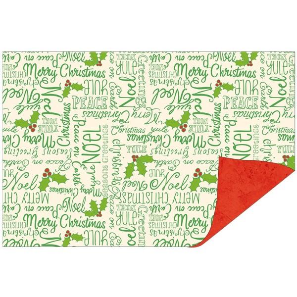 Faltpapiere Duo-Design 22, 10x15 cm, Weihnachtswünsche/rot, 50 Stück