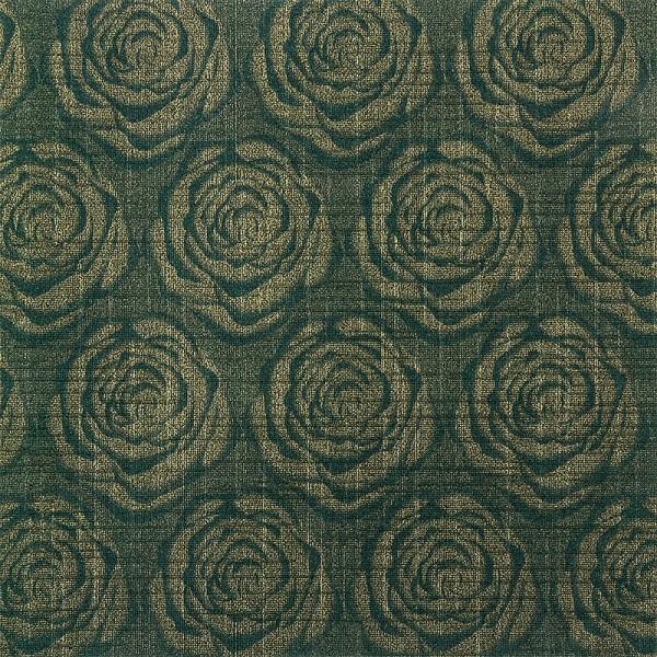 Design Faltpapiere, Rosen-Design, 10 x 10 cm, 100 Blatt, dunkelgrün