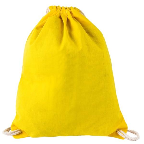 Turnbeutel aus Baumwolle, 37cm x 44cm, gelb
