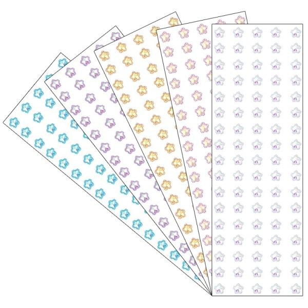 Kristallkunst, Schmuckstein Blüte 6, 10cm x 30cm, selbstklebend, verschiedene Farben, 5 Stück