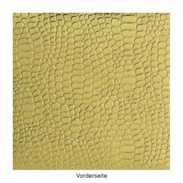 DuoDesign Faltfolien, Kroko-Optik, 10 x 10 cm, 65 Blatt, oliv