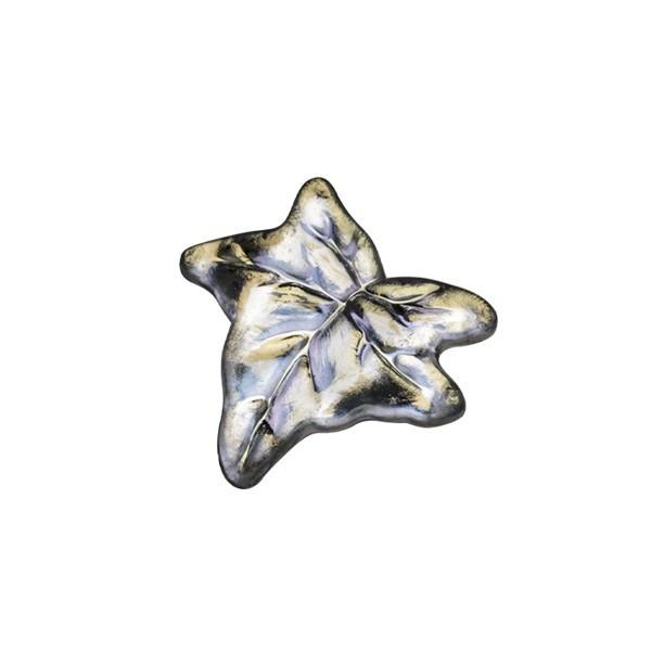 Ornament-Glitzersteine, 50 Stck, Blatt, 1,8 cm, klar-irisierend