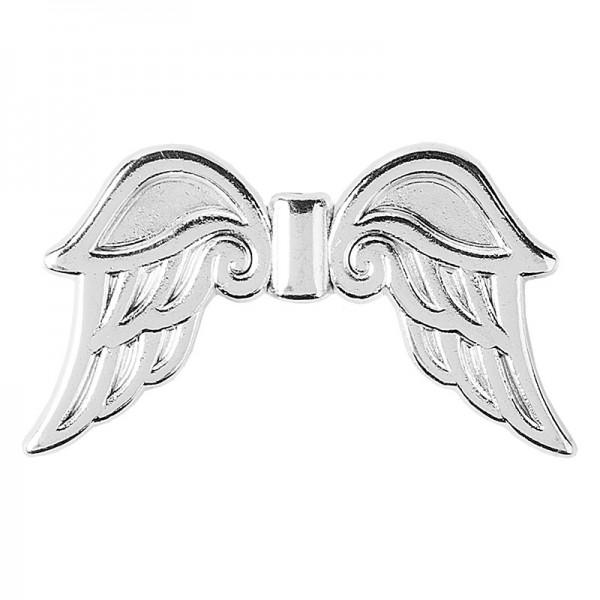Engelsflügel, Design 3, 1,9cm, silber, 30 Stück