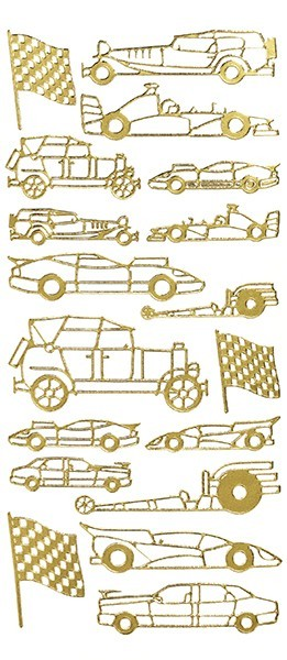 Sticker, Motiv Auto, gold