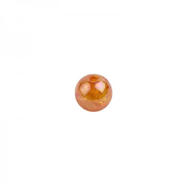 Perlen, transparent, irisierend, Ø8mm, 100 Stück, orange