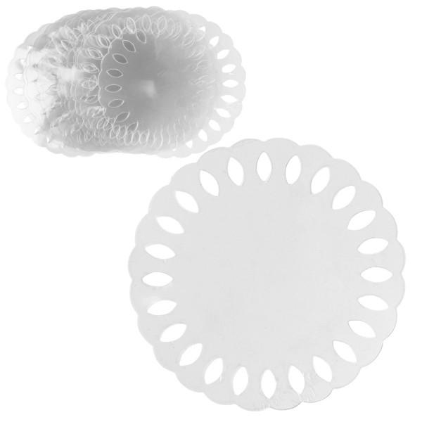 Windradfolien-Scheiben, mit Stanzornamentik, Kreis, Ø 16cm, 500µ, transparent, 20 Stück