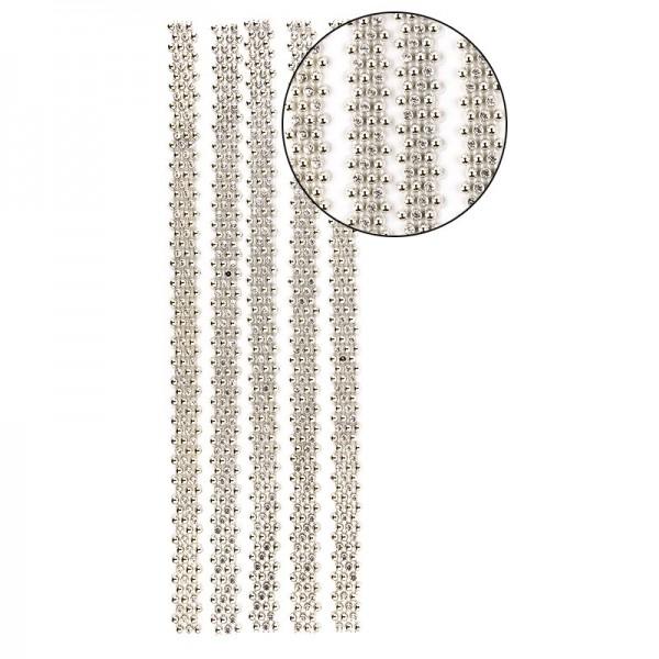 """Premium-Schmuck-Bordüren """"Royal"""", selbstklebend, 29cm, mit Glas-Kristallen, hellgold"""