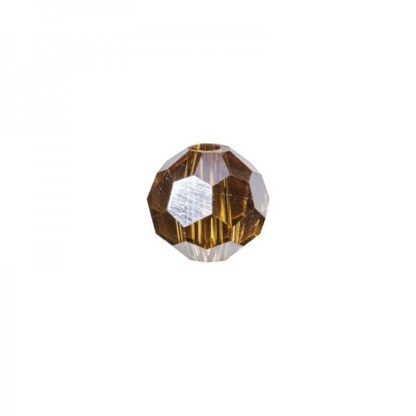 Glas-Perlen, transparent, Ø6 mm, 20 Stück, topaz-irisierend