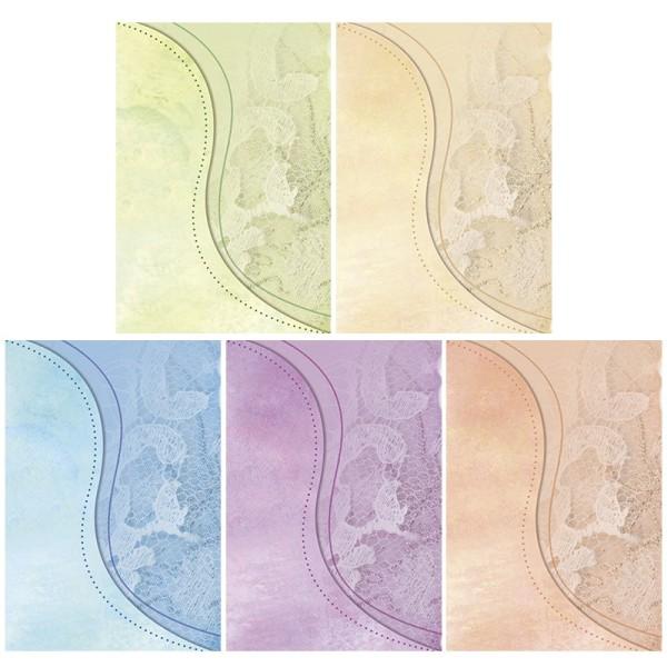 """Motiv-Grußkarten, Schwung """"Spitzen-Design"""", B6, inkl. Umschläge, 10 Stück"""