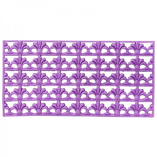 Wachs-Bordüren, Französische Lilie, 5 Bordüren à 2 x 10 cm, violett