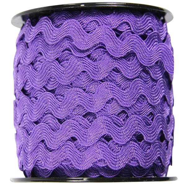 Zickzack Deko-Band auf Rolle, 7mm x 25 m, violett