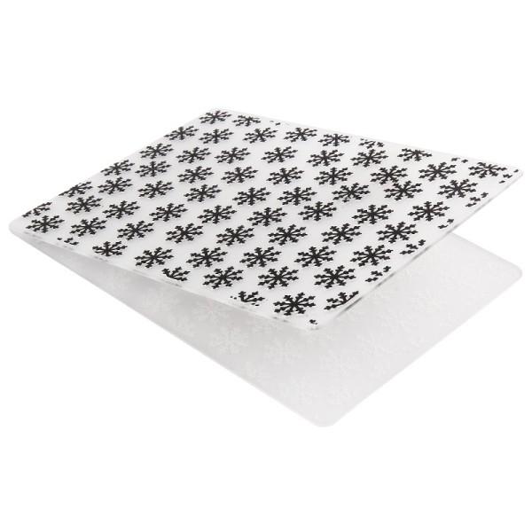 Prägeschablone, Hintergrund Eiskristalle, 15cm x 10cm, passend für gängige Präge-/Stanzmaschinen