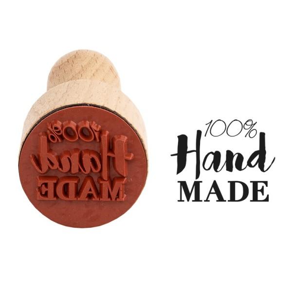 Holzstempel, 100% Handmade, Ø3cm, 8,5cm hoch, mit Griff