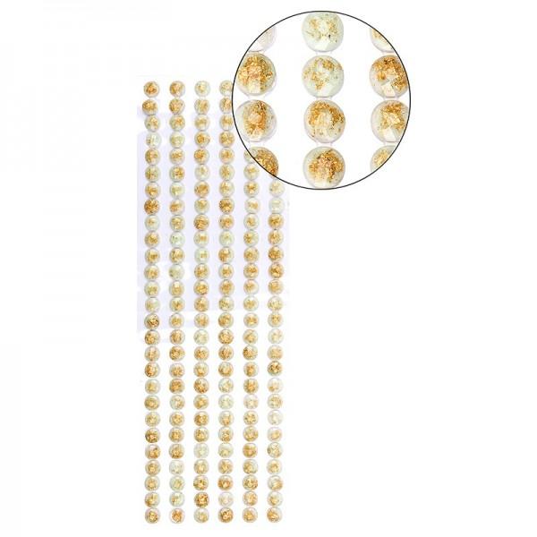 "Premium-Schmuck-Bordüren ""Goldfluss"", selbstklebend, 29cm, weiß"