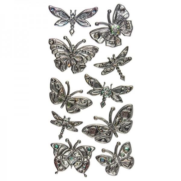 Relief-Sticker Nostalgie, Schmetterlinge, 17,5cm x 9cm