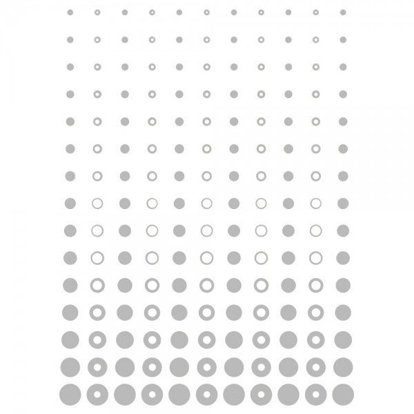 Metallic-Bügeltransfer, Hintergrund, Punkte & Kreise, 25cm x 34cm, silber glänzend