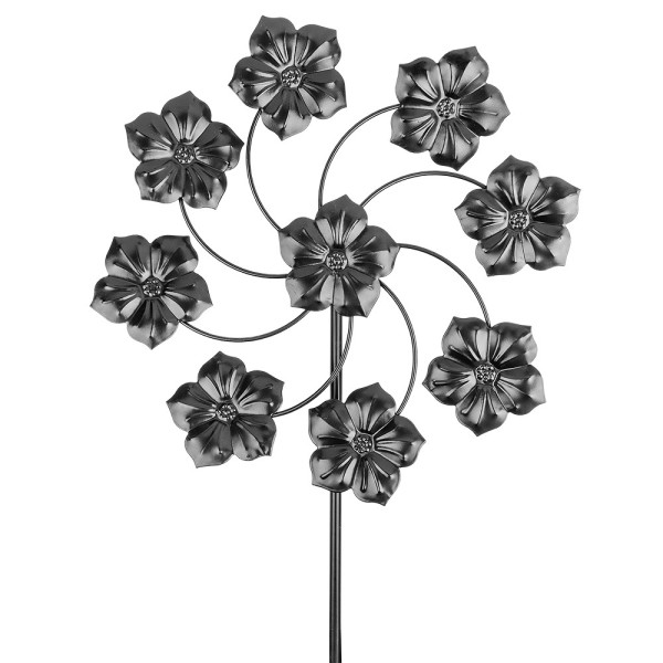 Windrad Design 4, Ø 36cm, Höhe 132cm, schwarz