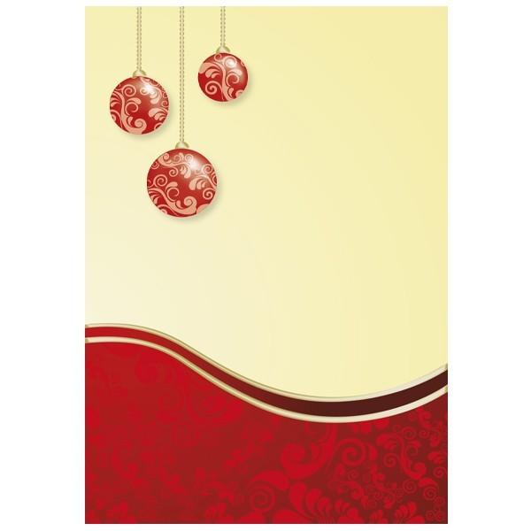 """5er Doppel-Grußkarten-Set """"Rote Weihnachtskugeln"""", B6"""