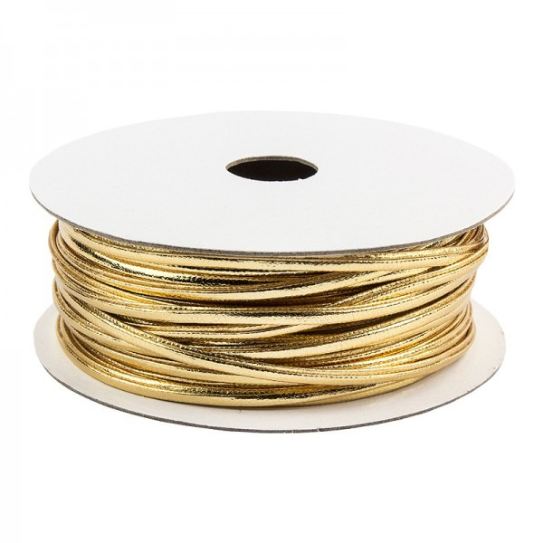 Deko-Band, 5m lang, 0,2cm breit, hellgold