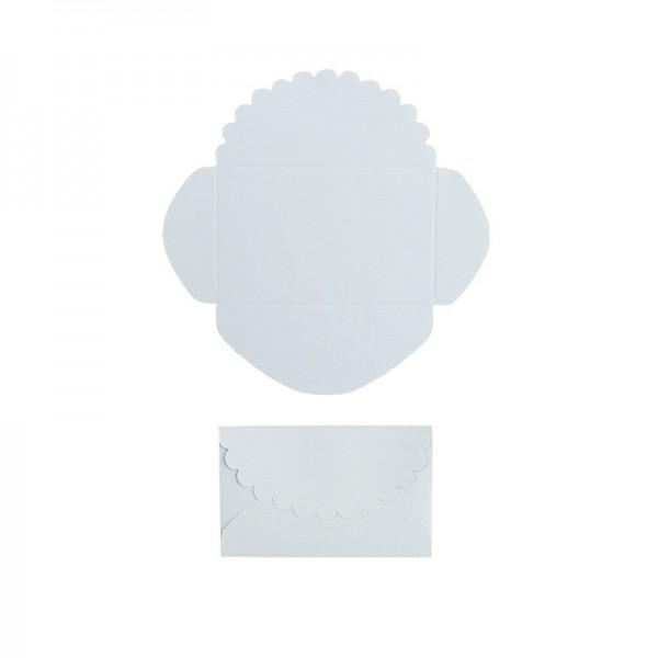 Mini-Umschläge, 2,9 x 4,6 cm, 100 Stück, blau