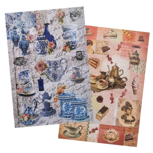 Reispapiere, Nostalgie 8, DIN A4, 2 Designs