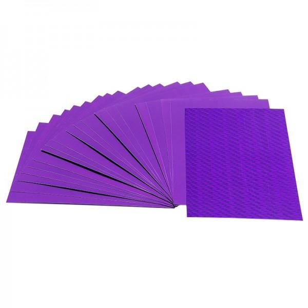 Doppel-Folien, Laser- & Spiegeleffekt, 10cm x 15cm, violett, 20 Stück