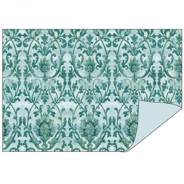 Faltpapiere Duo-Design 6, DIN A5, Ornamente/mint, 50 Stück
