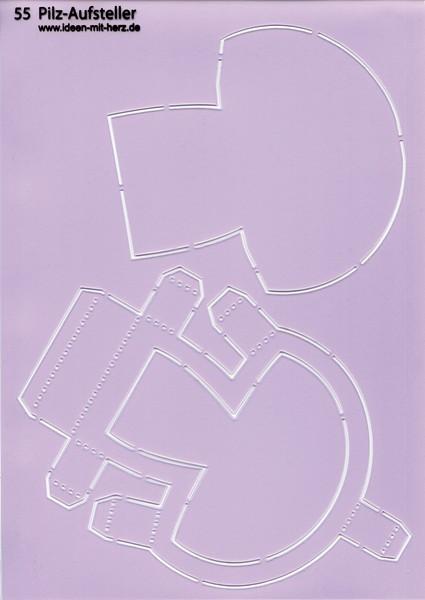 """Design-Schablone Nr. 55 """"Pilz-Aufsteller"""", DIN A4"""