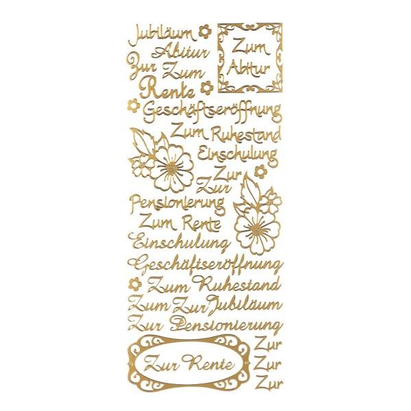 """Sticker, Schriften, """"Jubiläum"""", uvm., Perlmuttfolie, gold"""