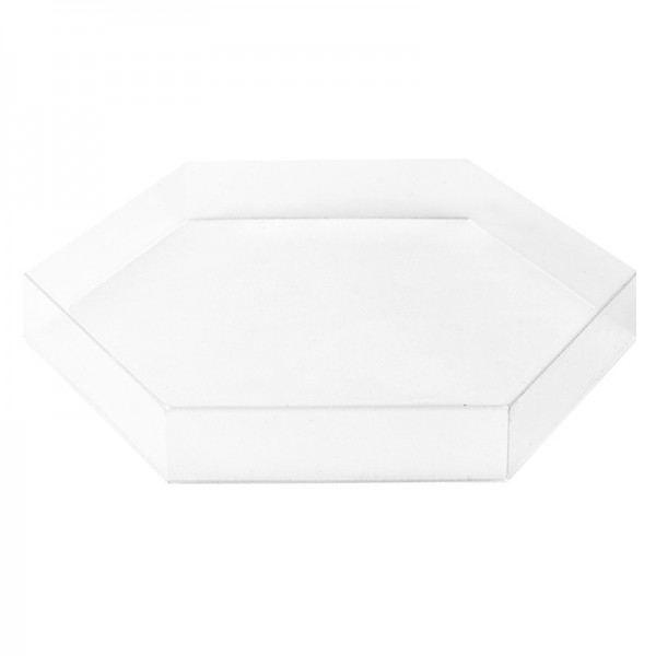 Vario-Podeste, Sechseck, 11,8cm x 10,2cm, 1,5cm hoch, transparent, 10 Stück