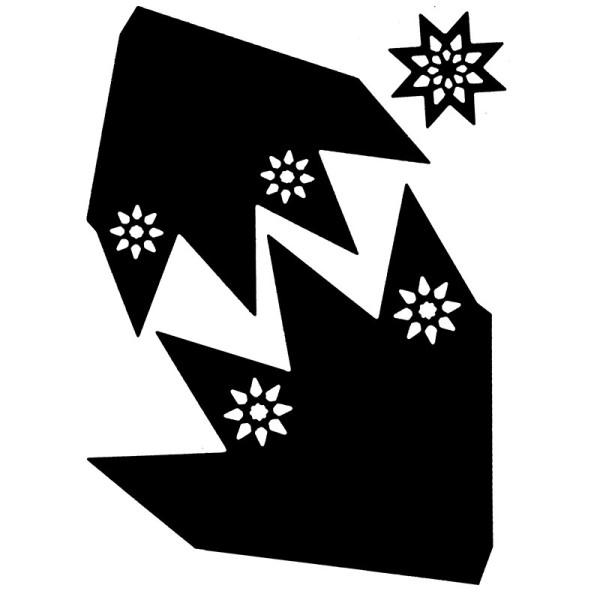 Stanzschablonen, Faltsterne, 3 Stück