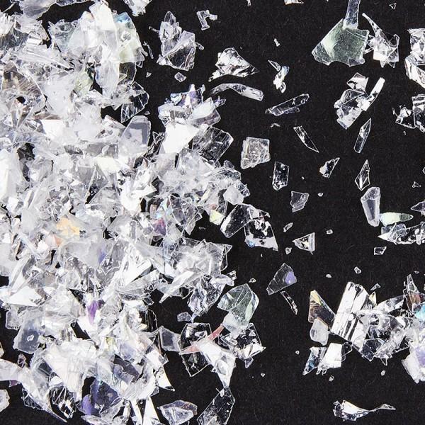 Glitzer-Schnee, Streu-Deko, 15g, weiß-irisierende Kristall-Flocken