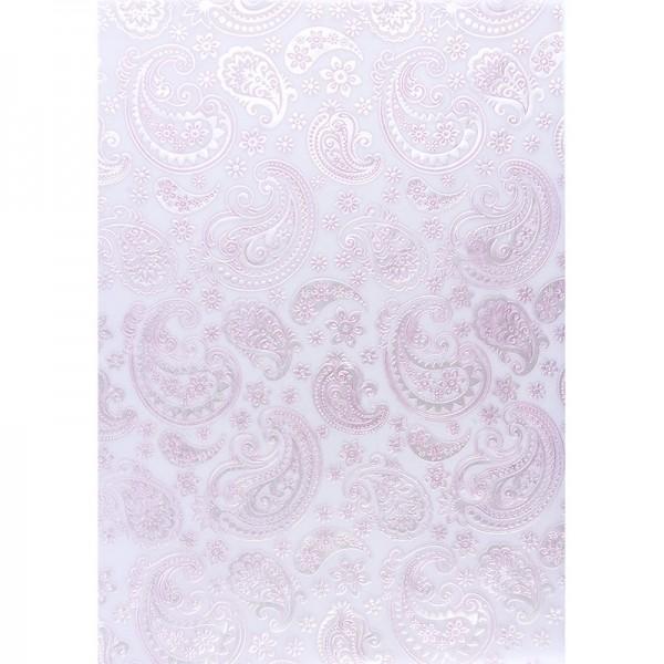 Transparentpapiere, Nova Noblesse 4, mit Top-Prägung & Perlmuttlack, DIN A4, 5 Bogen, rosé