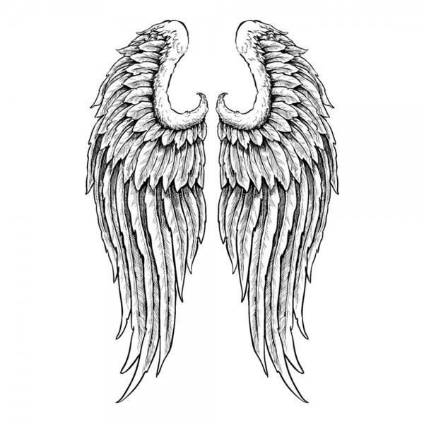 Feinkontur-Stempel, 10 x 15 cm, Flügel