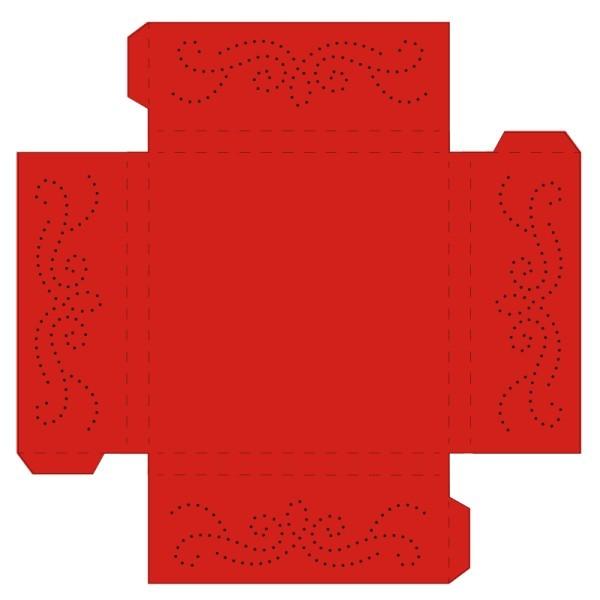 Prickelpodest für Deko-Lichtwürfel, 11x11cm, signalrot